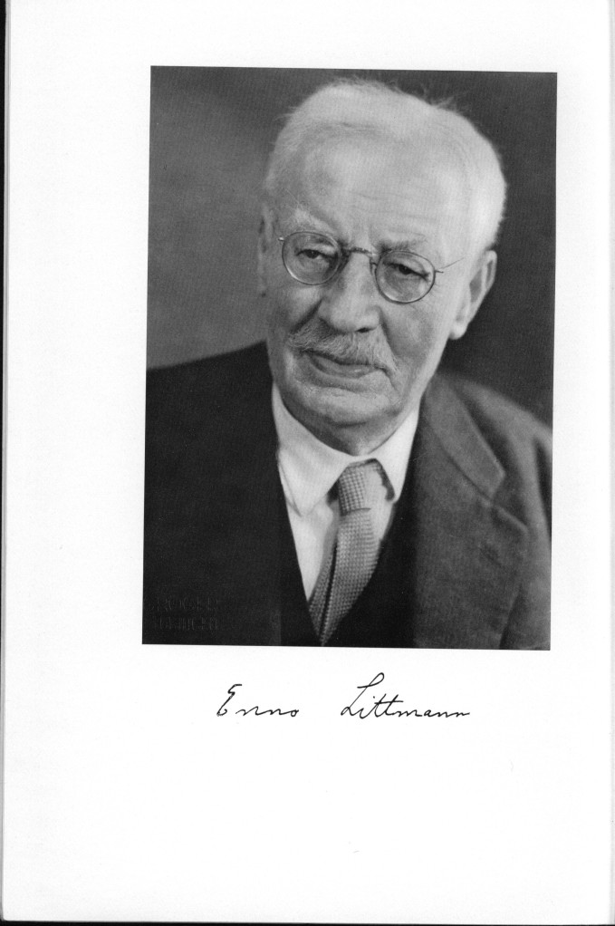 The frontispiece to The Library of Enno Littmann, 1875-1958 (Leiden, 1959)