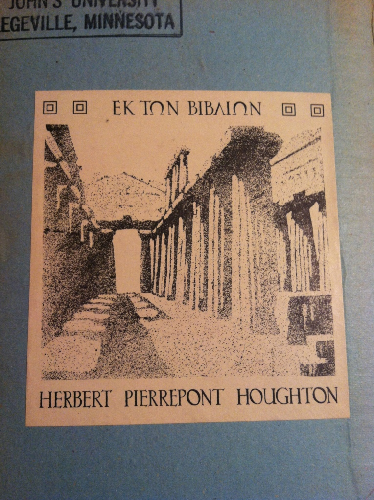 Houghton's bookplate