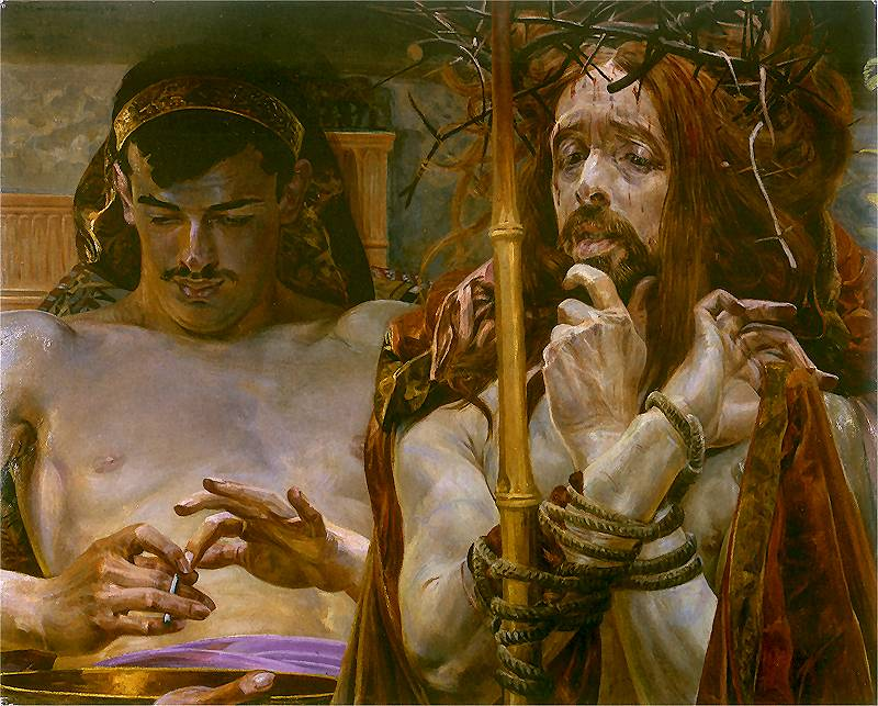 Jacek Malczewski, Christ before Pilate, 1910. See here.
