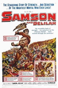 Poster for Cecil B. DeMille's Samson and Delilah (1949). Source.