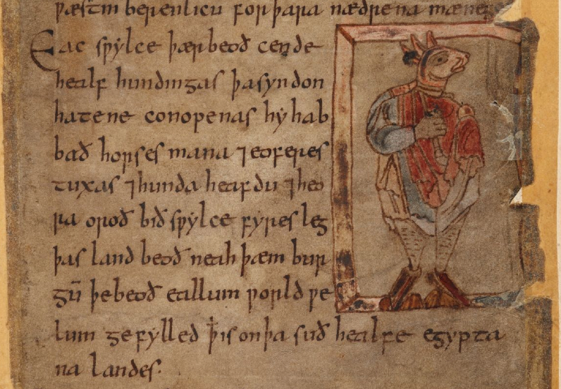 BL, Cotton Vitell. A XV, f. 100r